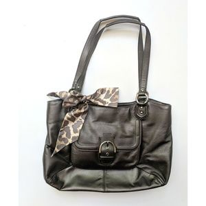 Coach Campbell Belle Leather Carryall Shoulder Bag
